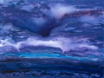 painting - deep purple storm